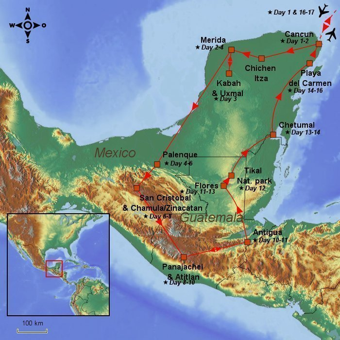 Mexico yucatan tour guatemala 17 days incl flights hotels the yucatan peninsula and guatemala are famous in particular for their beauty and for the impressive ruins from ancient mayan civilisations gumiabroncs Gallery